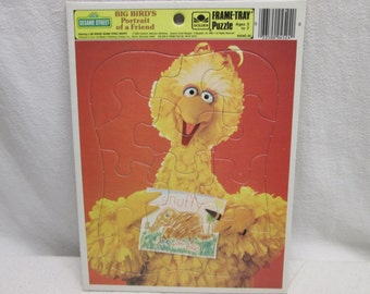 Big Bird Muppets Puzzle, 1986 Golden Childs Puzzle, Birthday 1986