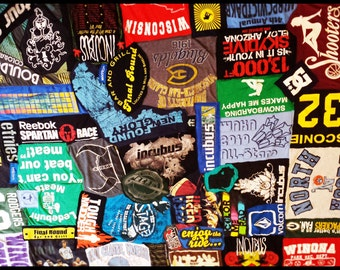 Tshirt Quilt Collage - Custom Order DEPOSIT - Send Me Your Shirts and I'll Make You a Quilt!