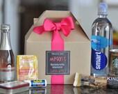 Bachelorette Party Survival Box {Bridesmaid gifts, Hangover kit, Bachelorette Weekend} Set of 8