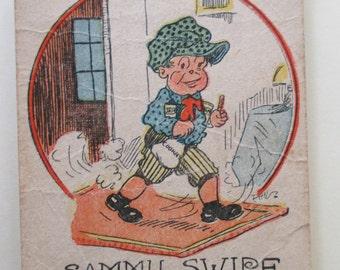 Antique Playing Card - Old Maid, Sammy Swipe, children, game