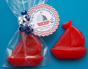45 SAIL BOAT SOAP {Favors} - Nautical Birthday, Nautical Baby Shower, Nautical Wedding Favor, Transportation Party Favor, Sailor Favor