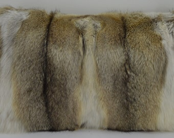 kit fox fur pillow real made in the USA