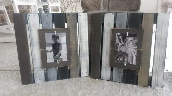 Wood pallet picture frames repurposed wood pallet wood for Best selling home decor etsy