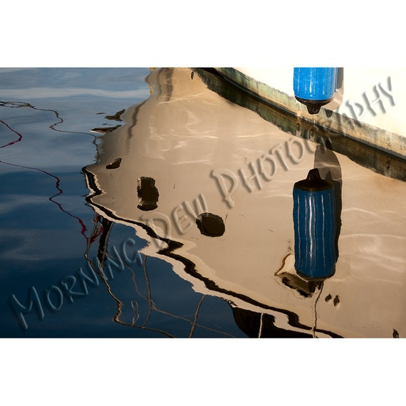 Waterlines Matted Photograph Of A Boat In Tarpon Springs