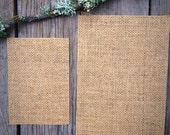 "SAMPLE Pack - One 5"" x 7"" Burlap Backer  and One 4 Bar Burlap Backer for Wedding Invitations"