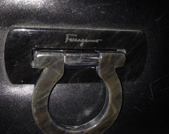 Ferragamo black leather purse