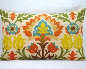 Waverly Santa Maria Adobe Lumbar Pillow Waverly Decorative Pillow Accent Pillow Cover 13x18