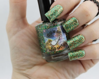 Here Today, Gorn Tomorrow glitter Nail Polish by Comet Vomit