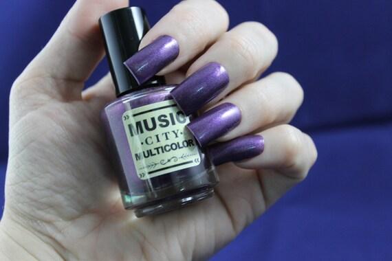 Parthenon Purple Music City Multicolor nail- Nashville