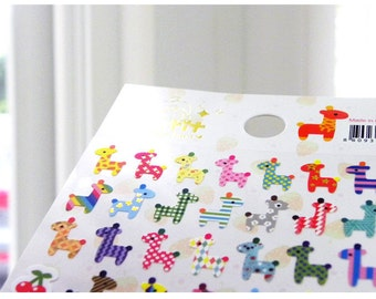 Cute Giraffe Korean Stickers Set