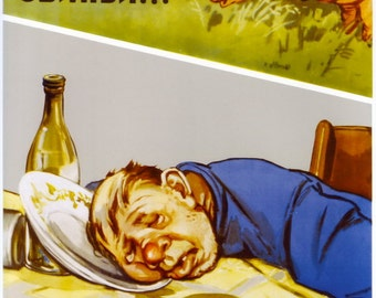 Soviet ANTI-Alcohol Poster. And they call us pigs... Soviet poster, soviet propaganda, propaganda, ussr, soviet union, Soviet, poster, 1958