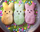 Peeps Dog Treats - Peeps Bunnies - 2 pack - Peanut Butter Carrot Cake Easter Dog Treats
