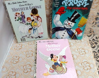 Little Golden Book collection Frosty the Snowman Mother Goose