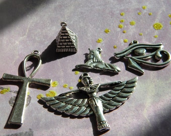 Ancient EGYPTIAN Charms Sphinx Eye of Horus PYRAMID Goddess Ankh You Choose d.i.y.  Jewelry Making