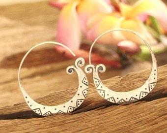 Tribal Silver earrings-The Swirl Eyes (5)
