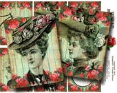 Vintage Hats - Printable Journaling Cards