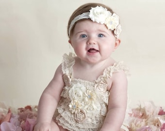baby lace romper- petti lace romper- ivory lace romper- girls lace romper- newborn lace romper- toddler petti lace romper- baby rompers