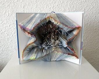 """Book Art Sculpture """"Star"""""""