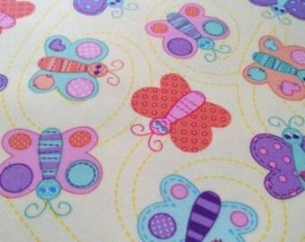 PUL - Butterflies - Diaper Cut  21 x 24