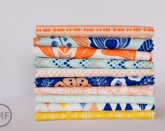 Fat Quarter Bundle Tule Nevada Sun, 10 Pieces, Leah Duncan, Art Gallery Fabrics, 100% Cotton Fabric, TL