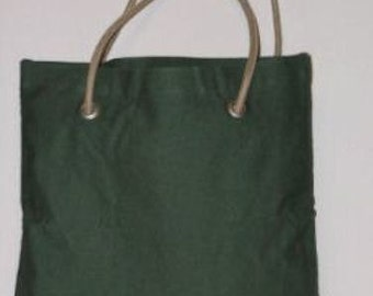 Personalized Tote, Peyote Green w/Rope Handles