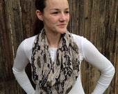 Infinity Scarf Black and Olive