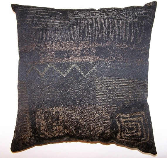 Throw Pillows Charcoal : Pillows Throw Sofa Couch Black Charcoal Gold by MinniesLegacy