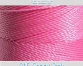 Linhasita Polyester Waxed Thread / Cord - 915 Candy Pink - 172metres / 1mm