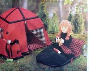 RARE Vogue Craft Linda Carr Sewing Doll Clothes Wardrobe Pattern 9832 CAMPING SET - Fits American Girl Our Generation Carpatina Gotz Dolls