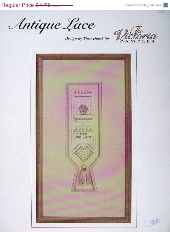 75%OFF Thea Dueck The Victoria Sampler ANTIQUE LACE - Counted Cross Stitch Pattern Chart