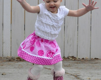 Strength in Love Skirt ( 18 mos, 24 mos,  2T, 3T, 4T, 5 ,6, 7 ,8 )