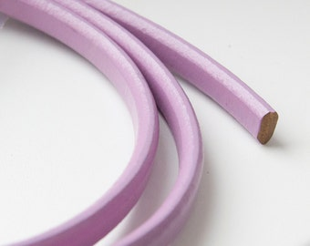 Lilac Licorice Leather Cord, Purple licorice leather, leather cord thick leather cord 8'' long S 40 137