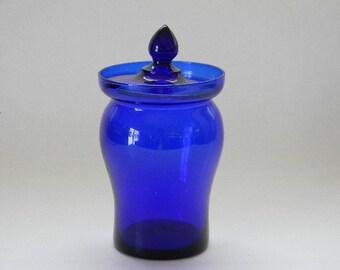 Vintage Cobalt Blue Marmalade Jar