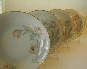 BAVARIA, (4) Vintage Tirschenreuth Bavaria, Soup Bowls, Tulips