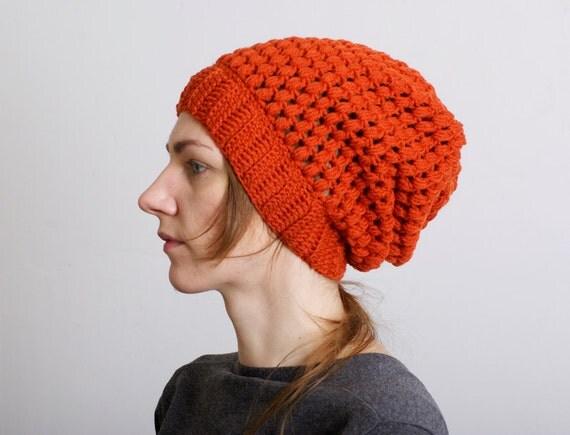 Baggy Beanie Hat Crochet Pattern : Knit hat Crochet Slouchy Beanie Slouch hat Baggy by mareshop