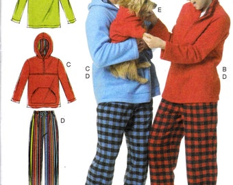 "Unisex Pullover Tops Hoodie Elastic Waist Pants and Dog Sweater Size XS-M Bust 29.5-36"" Waist 22-28"" McCall's 6252 Womens Sewing Pattern"
