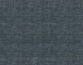Textured Chenille with a play on the linen trend -Texture and Depth - Upholstery Fabric - Duty Free Canada- Color: Denim Blue -per yard