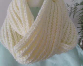 Infinity Neck Scarf - Hand Knit Infinity Neck Scarf - Handmade Infinity Neck Scarf - Neck Muffler - Gifts for Her, Winter Accessory -