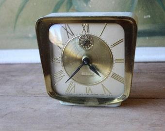 FREE SHIP Vintage Alarm Clock By De Luxe