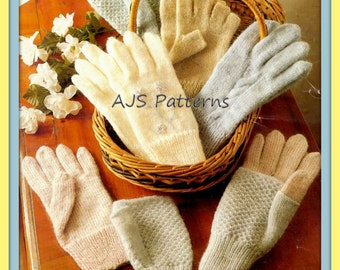PDF Knitting Pattern for Assorted Gloves and Mittens - Instant Download