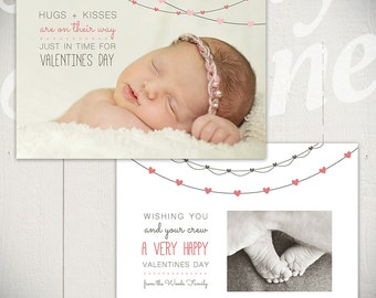 Valentines Day Card Template: Me + You A - One 5x7 Baby Valentine Card Template