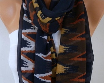 Zigzag Chiffon Scarf,christmas Gift Oversize Wrap Pareo Shawl Gift Ideas For Her Women Fashion Accessories