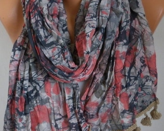 Camouflage Cotton Scarf, Fall Shawl,Christmas Gift,Gift Ideas For Her Women Fashion Accessories