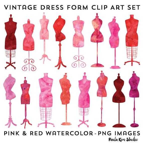 Vintage Dress Clipart