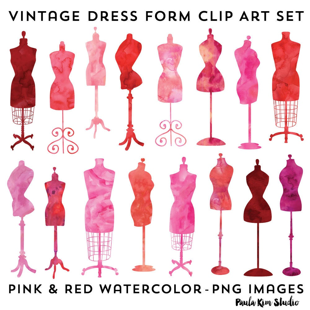 vintage dresses clipart - photo #48
