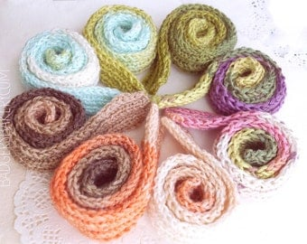 ombre BJD DOLL SCARVES for msd, sd - 11 colours - 50cm long - large doll scarf