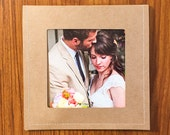 8 Brown Stitched DVD Sleeves with photo on front and flap closure