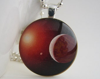 Eclipse Glass Tile Pendant with Free Necklace