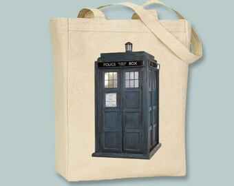 British Police NATURAL or BLACK Canvas Tote - Selection of Sizes available.