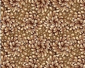 End of Bolt/Chocolate Brown Flower Fabric for MDG/1 YARD 24 Inches by 44 inches Wide/Cotton Quilt Craft Apparel